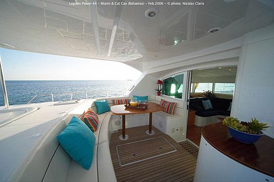 We have a 44ft Lagoon Power Catamaran ...